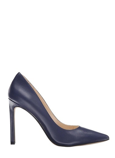 Nine West Süet Stiletto Ayakkabı Lacivert